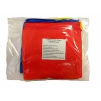 Салфетка для уборки универсальная, микрофибра 30х30см, 3 шт